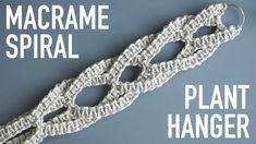 DIY Beginner Macrame Tutorial: Macrame Spiral Plant Hanger Using Square Knots! Crochet Plant Hanger, Macrame Plant Holder, Macrame Plant Hangers, Macrame Supplies, Macrame Projects, Macrame Design, Macrame Patterns, Square, Macrame Cord