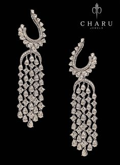 Long Dangle #Fashion #Earrings By Charujewels