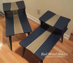 Striped Retro Side Tables