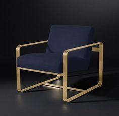 RH Modern - $1496 Miles Fabric Chair