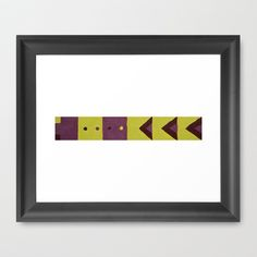 Yellow and Magenta Strip Framed Art Print by Lacey Hill - $32.00 #yellow #magenta #tones #abstract #painting #laceyhill
