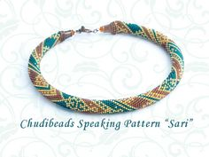 Sari  Chudibeads speaking  PATTERN for bead crochet by Chudibeads, $15.00