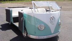 Wedding hippie van cabrio. It's funny, but I like the original better
