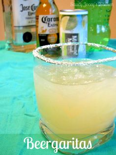 Tart and refreshing Beergaritas! Pampered Chef Margarita Recipe, Margarita Recipes, Alcoholic Drinks, Beverages, Cocktails, Drinks Alcohol, 40th Birthday Quotes, Wife Birthday, Birthday Images