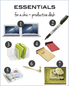 how to create a chic and organized desk