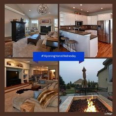 This stunning #WyomingHomeWednesday ranch style home in Mustang Ridge aims to please with space & functionality. Open concept basement with wonderful wet bar to boast. The outdoor space has been designed to entertain family & friends. #Cheyenne #cbtpe #Wyoming