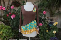 Boho Funky Women's Eco Shirt Sustainable by AmadiSloanDesigns