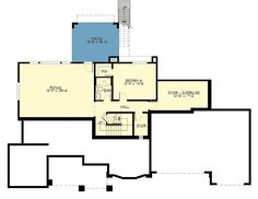 Spacious Multi-Gabled Two-story House Plan with Second-floor Master - floor plan - Lower Level Two Story House Plans, Two Story Homes, Dream House Plans, House Floor Plans, Walkout Basement, Basement Plans, 4 Bedroom House Plans, Building Section, Floor Framing