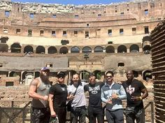 Photo of Roman Reigns, Braun Strowman, Matt Hardy, Titus O'Neil, Heath Slater and Curtis Axel at the legendary Roman Colosseum. Curtis Axel, Heath Slater, Shane Mcmahon, Braun Strowman, Wwe Roman Reigns, Wrestling Superstars, Royal Rumble, Aj Styles, Roman Empire