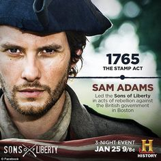 I'm loving the Sons of Liberty 3 night event on the History channel. Is it weird that I have a crush on Sam Adams? History Channel, Us History, History Facts, American History, British History, American Revolutionary War, Revolutionary War Movies, British Government, Ben Barnes