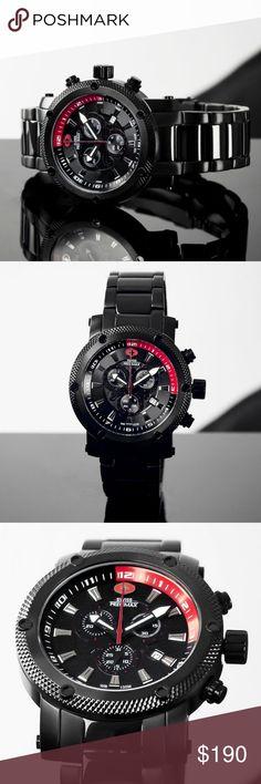 Swiss Precimax Men's Volt Pro Black Watch NWT
