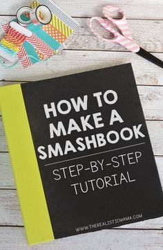 Smash Book Step-by-Step Tutorial 2019 Smash Book Step-by-Step Tutorial The Realistic Mama The post Smash Book Step-by-Step Tutorial 2019 appeared first on Scrapbook Diy. Scrapbook Journal, Travel Scrapbook, Diy Scrapbook, Inspiration Drawing, Smash Book Inspiration, Journal Ideas Smash Book, Smash Book Challenge, Origami 3d, Videos Tumblr