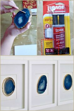 DIY Framed Agate Art,DIY Framed Agate Art Contemporary Decorations with Frame Types By placing your photos inside it, you can easily place these products that are used to . Creative Crafts, Fun Crafts, Diy And Crafts, Arts And Crafts, Art Diy, Diy Wall Art, Resin Crafts, Resin Art, Agate Decor
