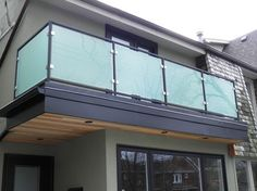 Modern Glass Railings modern fencing - All About Balcony Balcony Glass Design, Glass Balcony Railing, Balcony Grill Design, Rooftop Terrace Design, Balcony Railing Design, Iron Balcony, Steel Railing Design, Glass Railing System, Glass Balustrade