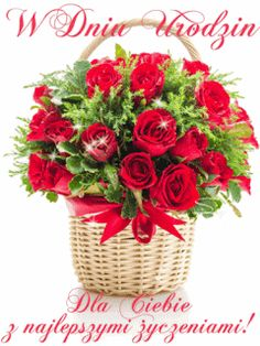 Birthday Wishes, Happy Birthday, Good Morning Gif, Beautiful Roses, Strawberry, Bloom, Table Decorations, Fruit, Flowers