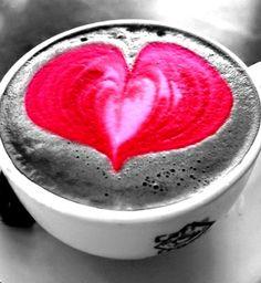 PNNR  Toni Kami / BD Coffee Art #Latteart :*¨¨*:Coffee♥Art:*¨¨*: #Heart  #colorsplash