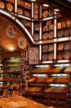 Spice bazaar in India