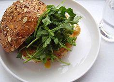 Brie and Egg Breakfast Bun