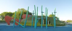 New Ridiculously Imaginative Playgrounds from Monstrum Set the Monkey Bars High for Innovation playgrounds kids