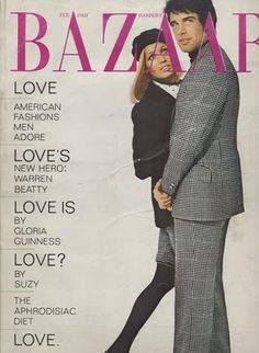 "Faye Dunaway & Warren Beatty- ""Bonnie & Clyde""- Haper's Bazaar, February 1968"