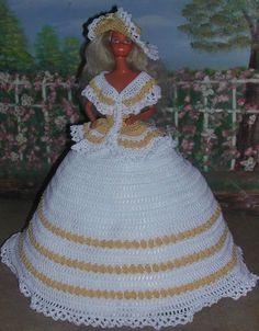 CROCHET FASHION DOLL PATTERN-#411 CRINOLINE LADY #1 #ICSORIGINALDESIGNS