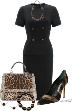 """""""Leopard for Work"""" by christa72 on Polyvore"""