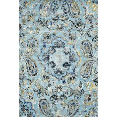 Found it at Wayfair - Taunya Aqua Area Rug