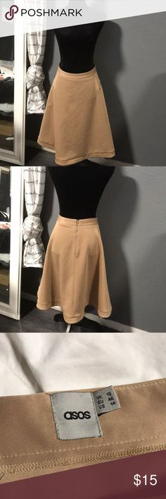ASOS midi skirt Beautiful camel color skater skirt. Size 14 runs a little big. I will post dimensions soon ASOS Skirts Midi