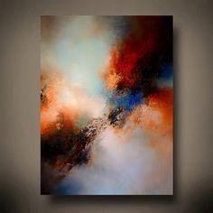 Grande Original expresionismo abstracto lienzo por Simon Kenny