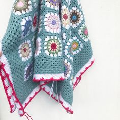 My Rose Valley: Crochet Blanket Edging Tutorial - Bird Foot Stitch