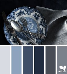 Dark navy blue color palette navy blue color scheme grey and blue paint scheme best grey color schemes ideas on bedroom navy blue color scheme Blue Colour Palette, Blue Color Schemes, Color Combos, Grey Color Palettes, Color Palette Gray, Blue Paint Colors, Gray Paint, Deco Spa, Paleta Pantone