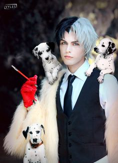 Disney Cosplay Cruella De Vil Genderswap by hakucosplay on deviantART - Disney Cosplay, Anime Cosplay, Epic Cosplay, Male Cosplay, Cosplay Makeup, Amazing Cosplay, Cosplay Outfits, Disney Villain Costumes, Halloween Cosplay