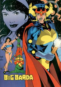 Big Barda by Adam Hughes & Karl Story with colors by Tom McCraw Comic Book Artists, Comic Book Heroes, Comic Artist, Comic Books Art, Dc Comics Characters, Dc Comics Art, Female Characters, Adam Hughes, Justice League
