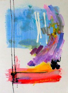 Jane Murdoch Adams   JRA Series: Lake Winnipeg   Canadian Abstract Painting   Toronto