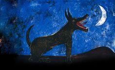 """""""Perro de luna / Moon Dog"""", litografía / lithography, 1973 - Rufino Tamayo"""
