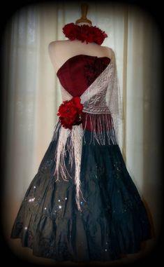 Sexy DAY OF THE DEAD Bustier COSTUME Dress Custom MEXICAN Dia de los Muertos S