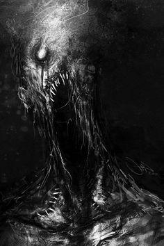 My favorite creepy fantasy art Arte Horror, Horror Art, Monsters Rpg, Zombies, Dark Artwork, Images Gif, Macabre Art, Creepy Art, Monster Art
