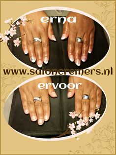French manicure with a little twist before and after nails