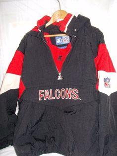 Vintage Starter Falcons Jacket Coat X Lg Red Black White #Starter #BasicJacket
