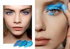 Sombra Azul e Máscara - Make-Up Trend - Blogs de Moda