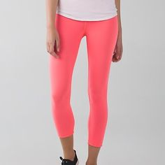 NWT Wunder Under Crop II Reversible SOLD OUT! ; grapefruit/slateNO TRADES! lululemon athletica Pants Ankle & Cropped