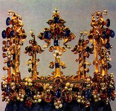The Crown of Princess Blanche, England, 1350 Royal Crowns, Royal Tiaras, Crown Royal, Tiaras And Crowns, The Crown, Medieval, Ancient Jewelry, Antique Jewelry, Family Jewels