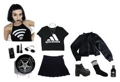 """""""Blk Space"""" by voodoo-dolly ❤ liked on Polyvore featuring D&G, Forever 21, American Apparel, Kill Star, Kat Von D, Guide London, Casetify, nugoth, healthgoth and toopoor"""