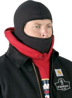 The Ergodyne N-Ferno 6821 Balaclava is great for those cool days working outdoors. The one size fits all stretch fleece material keeps your head and neck warm. May also be worn under a hard hat.         Long lenth covers neck    Single wash FR treated    Made from polyester fleece    One size fits all Roofing Tools, Balaclava, Day Work, Head And Neck, Neck Warmer, One Size Fits All, Turtle Neck, Outdoors, Construction
