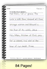 View full Size Free Sample PDF Confirmation Manuscript Sample Page Catholic worksheets from St. Anne's Helper