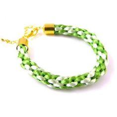 Kumihimo Braided Bracelet Kit (includes Kumihimo disk) - Lime