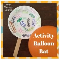 Gross Motor Activity of the Week: Activity Balloon Bat - pinned by @PediaStaff – Please Visit  ht.ly/63sNt for all our pediatric therapy pins