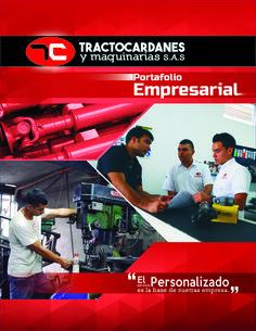 Portafolio empresarial para Tractocardanes  (12 páginas) -fotografía para diseño.