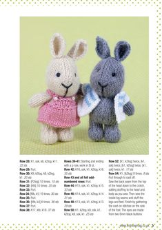 knitted dolls Knit Now 37 2014 Teddy Bear Knitting Pattern, Knitted Doll Patterns, Animal Knitting Patterns, Stuffed Animal Patterns, Crochet Dolls, Knitted Dolls Free, Knitted Bunnies, Knitted Teddy Bear, Knitted Animals