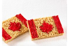 Easy-to-make Canada Day rice krispies!